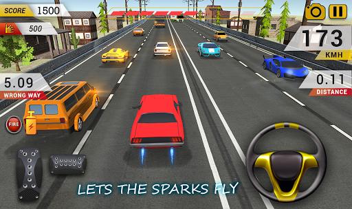 Highway Car Driving : Highway Car Racing Game 🏎 APK screenshot 1