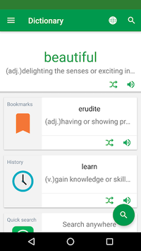 Erudite Dictionary, Translator & Widget APK screenshot 1