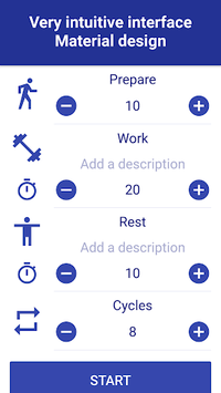 Tabata Timer: Interval Timer Workout Timer HIIT APK screenshot 1