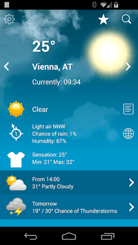 Weather Austria XL PRO APK screenshot 1