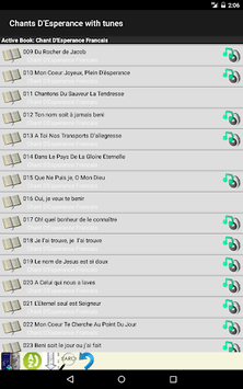 Chants D'Esperance with Tunes APK screenshot 1
