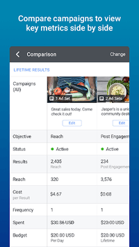 Facebook Ads Manager APK screenshot 1
