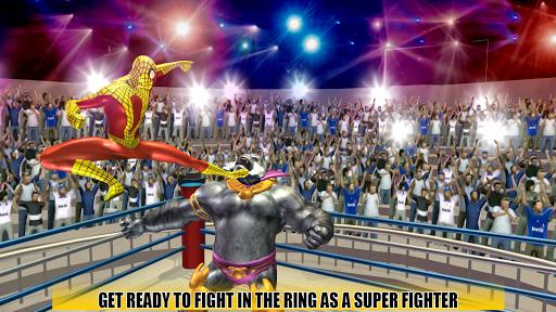 Incredible Monster, Superhero & Spider Ring Battle APK screenshot 1