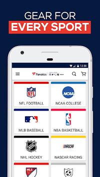 Fanatics: Shop NFL, NBA, NHL & College Sports Gear APK screenshot 1