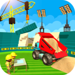 Football Stadium Builder Construction Crane Game icon