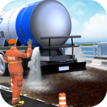 Mega City Road Construction Machine Operator Game icon