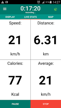 Bike Computer - GPS Cycling Tracker APK screenshot 1