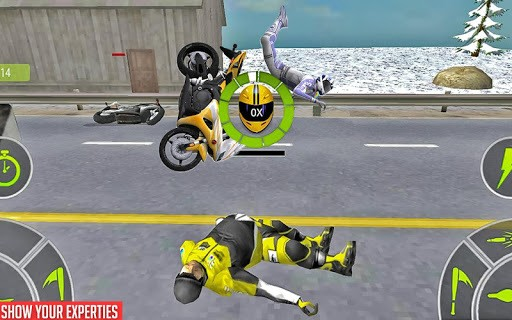 Crazy Bike attack Racing New: motorcycle racing APK screenshot 1