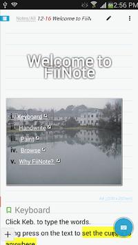 FiiNote, note everything APK screenshot 1