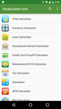 Financial Calculators APK screenshot 1