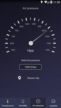 Thermometer - Hygrometer & room temperature app APK screenshot 1