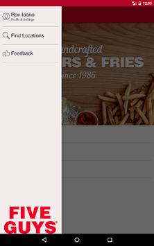 Five Guys Burgers & Fries APK screenshot 1
