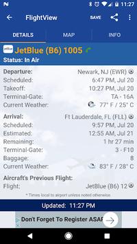 FlightView Free Flight Tracker APK screenshot 1