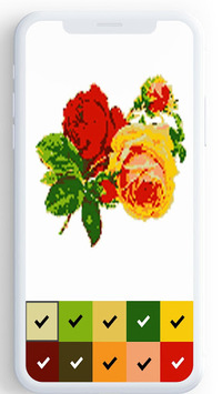 Flower Color By Number, flower coloring pages APK screenshot 1