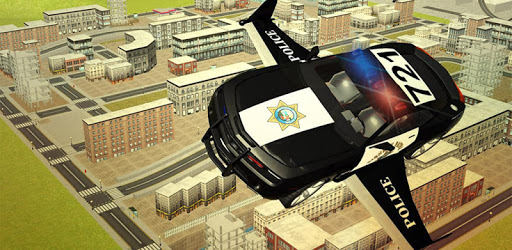 Flying Police car 3d simulator pc screenshot