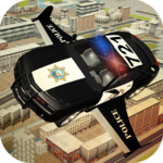 Flying Police car 3d simulator icon