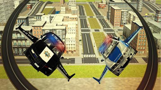 Flying Police car 3d simulator APK screenshot 1