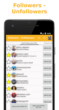 Followers - Unfollowers APK screenshot 1