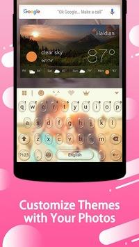 Keyboard - wallpapers , photos APK screenshot 1