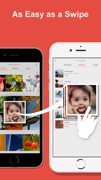 FotoSwipe: File Transfer, Contacts, Photos, Videos APK screenshot 1