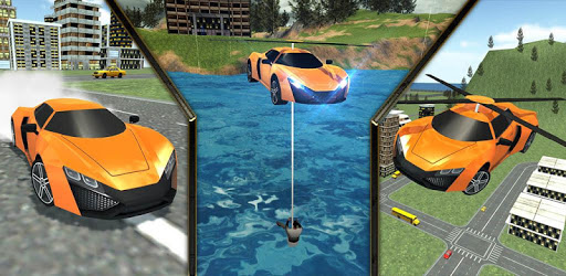 Flying Rescue Helicopter Car pc screenshot