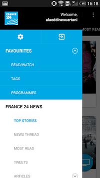 FRANCE 24 APK screenshot 1