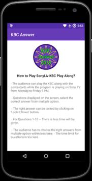 KBC Answer 2018 APK screenshot 1