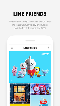 LINE FRIENDS - characters / backgrounds / GIFs APK screenshot 1