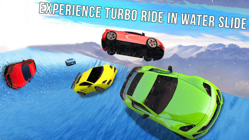 Frozen Water Slide Car Race; Aqua Park adventure APK screenshot 1