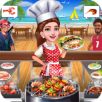 Super Chef Beach Bbq Kitchen Story Cooking Games icon