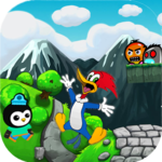 ★Woody Journey Penguin jungle swimming Wodpckr Adv icon