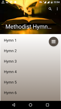 Methodist Hymn Book offline. APK screenshot 1