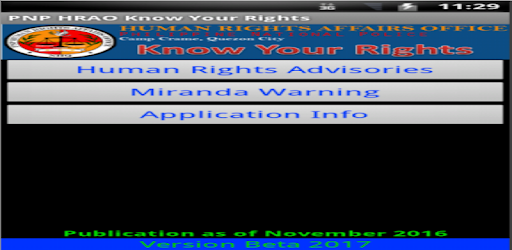 Philippine National Police Know Your Rights pc screenshot