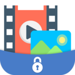hide photo, video icon