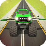 Flying Truck Pilot Driving 3D icon