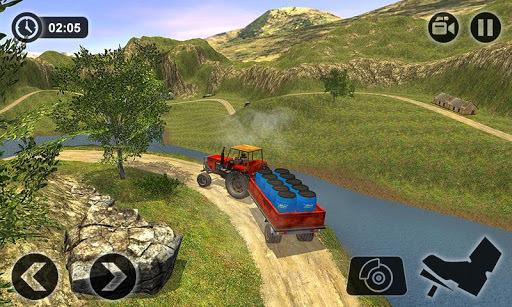 Offroad Tractor Farmer Simulator 2018: Cargo Drive APK screenshot 1