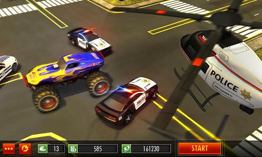 Police Chase Monster Car: City Cop Driver Escape APK screenshot 1