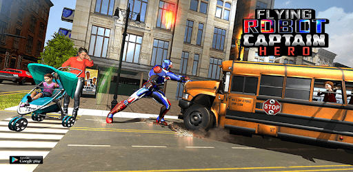 Flying Robot Captain Hero City Survival Mission pc screenshot