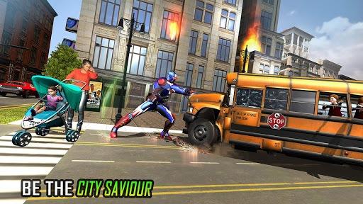 Flying Robot Captain Hero City Survival Mission APK screenshot 1