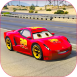 Splashy Superhero Vertigo racing : lightning car icon