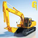 Sand Excavator Tractor 3D 2 icon