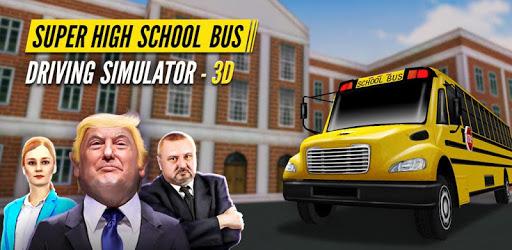 Super High School Bus Driving Simulator 3D - 2019 pc screenshot
