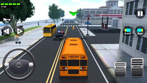 Super High School Bus Driving Simulator 3D - 2019 APK screenshot 1