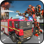 Rescue Robot Transformation Firetruck Simulator icon
