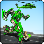 Helicopter Robot Transformation Game 2018 icon