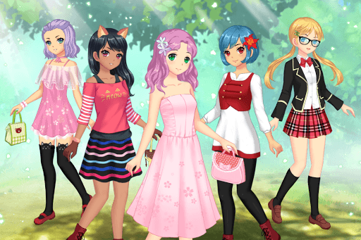 Anime Dress Up - Games For Girls APK screenshot 1