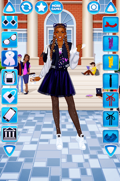 College Student Girl Dress Up APK screenshot 1