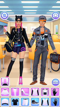 High School Couple: Girl & Boy Makeover APK screenshot 1