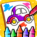 Cars Coloring Book for Kids - Doodle, Paint & Draw APK icon