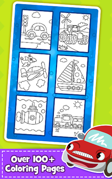 Cars Coloring Book for Kids - Doodle, Paint & Draw APK screenshot 1